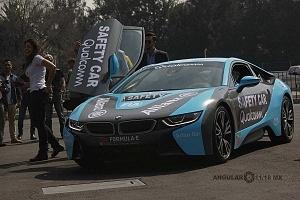 presentación del Safety Car BMW i8 que estara presnte en el gran premio de Fórmula e de la Ciudad de México 2