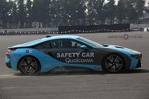 presentación del Safety Car BMW i8 que estara presnte en el gran premio de Fórmula e de la Ciudad de México Exhibición