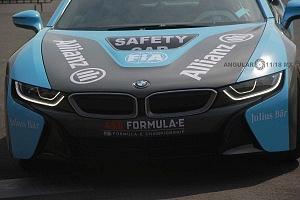 presentación del Safety Car BMW i8 que estara presnte en el gran premio de Fórmula e de la Ciudad de México frente