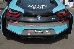 presentación del Safety Car BMW i8 que estara presnte en el gran premio de Fórmula e de la Ciudad de México parte trasera