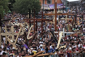 175 Representación de la Psión de Cristo en Iztapalapa segun cifras de la organización esta edición tuvo una asitencia aproximada de 2 millones de asistentes