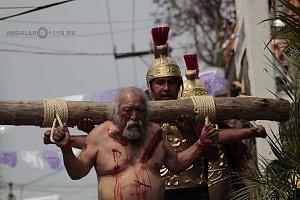 175 representación de la Psión de Cristo en Iztapalapa Inicio del Viacrucis recorrido de los ladrones Dimas y Gestas CM