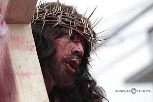 175 representación de la Psión de Cristo en Iztapalapa Inicio del Viacrucis retrato del Cristo de Iztapalapa RR