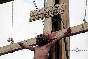175 representación de la Psión de Cristo en Iztapalapa Inicio del Viacrucis retrato del Cristo de Iztapalapa en la Cruz