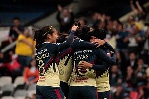 América derrota al Tijuana 3-0 en la Liga Femenil de la Jornada 12 festejo del gol de las Aguilas