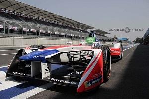 Auto de la Escuderia Mahindra Racing en el EPrix Ciudad de México 2018