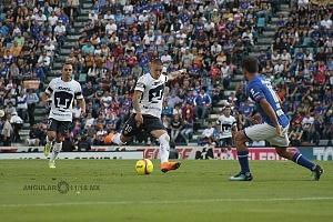 Cruz Azul empata 1-1 en el ultimo minuto ante Pumas en la jornada 12 del apertura 2018 Nicolas Castillo Jugador de Pumas
