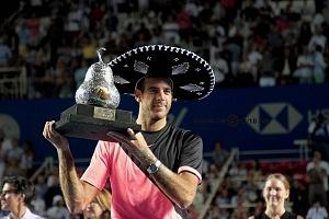 Juan Martín del Potro campeon del Abierto Mexicano de Acapulco 2018 en la premiación 1