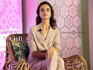 La Top Model Internacional Blanca Padilla en conferencia de prensa en la ciudad de México 2
