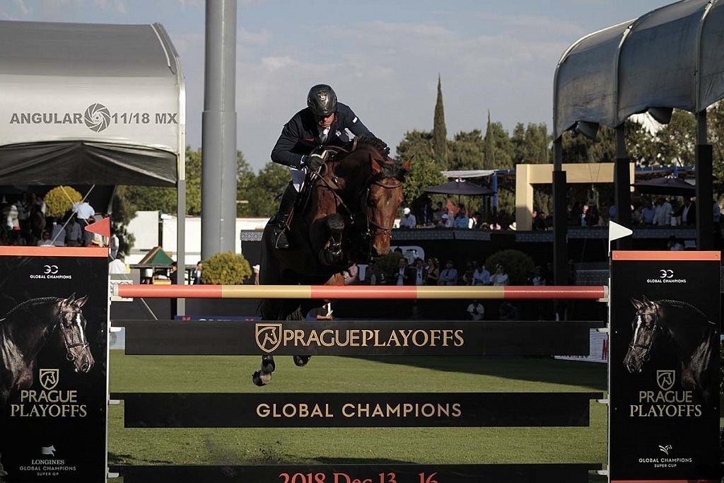 Longines Global Champhion Tour México 2018 segundo día de competencia salto frontal