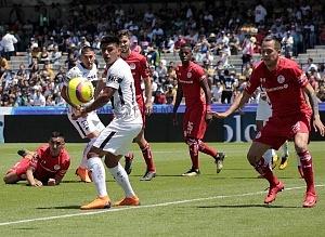 Los Pumas Pierden en los ultimos minutos frente al Toluca 1-0 en la jornada 11 del torneo apertura 2018 y solo ven pasar el balon