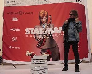 MIck Rock Inaugura Oficialmente en México la Exposición STARMAN del mítico David Bowie 5