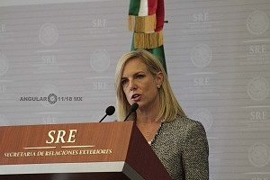 Secretaria de Seguridad Interna de los Estados Unidos, Kirstjen Nielsen en visita de estado en la ciudad de México 1