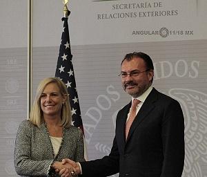 Secretaria de Seguridad Interna de los Estados Unidos, Kirstjen Nielsen y el Canciller Luis Videgary y Caso de México