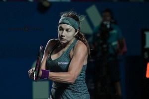Stefanie Voegele finalista del Abierto Mexicano de Acapulco 2018 en la Final uno