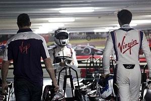 Virgin racing de Fórmula E; presento a sus pilotos Alexander Lynn y Sam Bird exhibición carros go karts 1