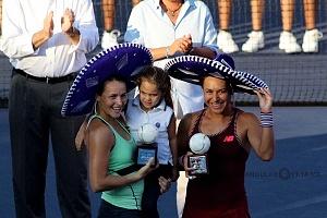 campeonas en dobles del abierto mexicano de Acapulco en su 25 aniversario 1