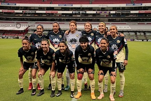 equipo titular Femenil del America en la jornada 12 del clausuro 2018