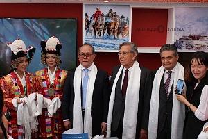 El embajador de China en México Qiu Xiaoqui en la Inauguración de la FICA 2018 r