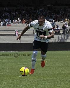 Nico Castillo delantero Puma en la Jornada 13 del torneo de Clausura 2018