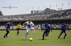 Nicolas Castillo delantero de Pumas en la victoria Frente al Puebla en la jornada 15