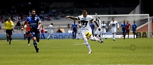 Nicolas Castillo delantero de Pumas en la victoria Frente al Puebla en la jornada 15 a