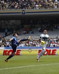 Nicolas Castillo delantero de Pumas en la victoria Frente al Puebla en la jornada 15 r