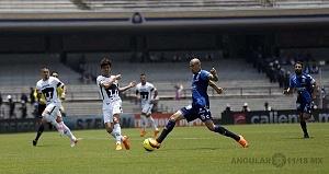 Nicolas Castillo delantero de Pumas en la victoria Frente al Puebla en la jornada 15 v