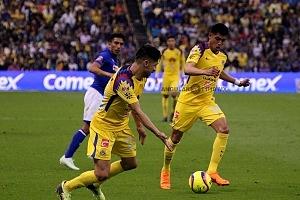 Oribe Peralta delantero americanista en la jornada 13 del clausura 2018 AB