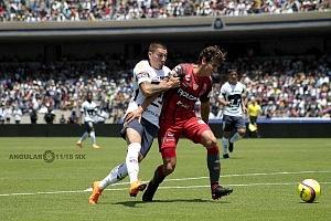 Pumas empató a un gol con Necaxa 1