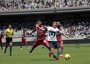 Pumas empató a un gol con Necaxa 3
