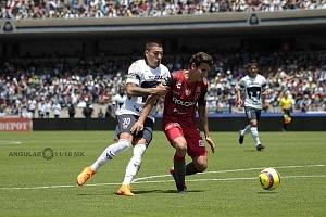 Pumas empató a un gol con Necaxa, Nico Castillo delantero universitario