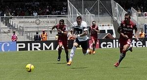 Pumas empató a un gol con Necaxa, descolgada Nico Castillo delantero universitario