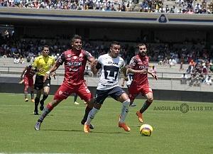 Pumas empató a un gol con Necaxa descolgada de Pablo Barrera delantero universitario 2