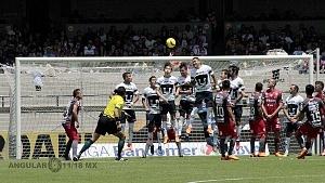 Pumas empató a un gol con Necaxa descolgada del delantero de Necaxa