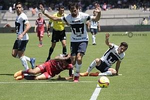 Pumas empató a un gol con Necaxa en la jornada 13 del torneo de clausura