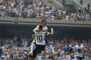festejo del gol que pone a los pumas en la liguilla de Matías Alustiza contra Queretaro a