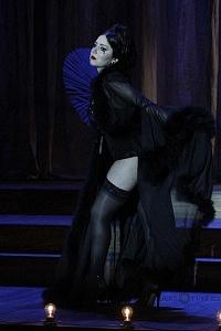 Actriz Diana Bovio en la puesta en escena Noche de Reyes interpretando a Lady Olivia