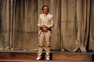 Actriz María Penella en la puesta en escena Noche de Reyes interpretando el papel de Viola