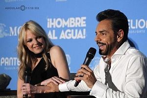 Eugenio Derbez y Anna Faris estrenan en México Hombre al agua 5