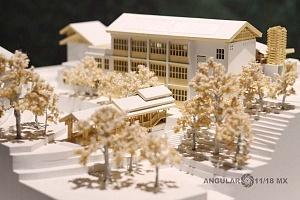 Inauguraciòn de la Exposición experimental de diseño, cultura y estilo de vida de China maqueta de un parque chino 1