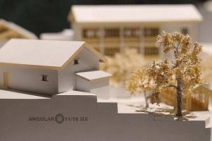 Inauguraciòn de la Exposición experimental de diseño, cultura y estilo de vida de China maqueta de un parque chino
