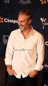 Juan Pablo Medina actor de la pelicula Eres mi Pasión en la presntaciòn para medios