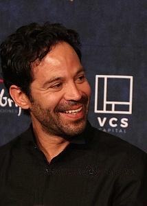 Mauricio Issac actor de la pelicula Eres mi Pasión en la presntaciòn para medios