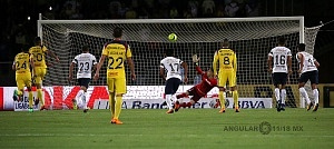 penal en favor del America en el partido de ida en los cuartos de final frente a Pumas