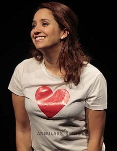 Actriz Adriana Montes de Oca, en la puesta en escena Romeo y Julieta de Bolsillo, Centro Cultural Hèlenico Foro la Gruta
