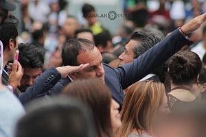 Chuautemoc Blanco en el cierre de campaña de Andrés Manuel López Obrador candidato a la presidencia de México 1