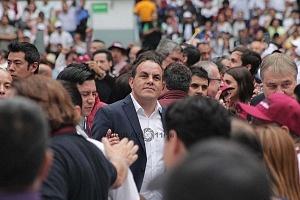 Chuautemoc Blanco en el cierre de campaña de Andrés Manuel López Obrador candidato a la presidencia de México