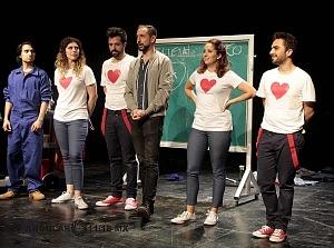 Elenco de la puesta en escena Romeo y Julieta de Bolsillo en el Centro Cultural Hèlenico