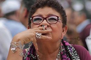 Ernestina Godoy en el cierre de campaña de Andrés Manuel López Obrador candidato a la presidencia de México